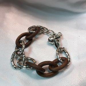 Brighton metal and wood bracelet